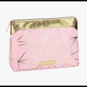 Tartan + Twine pink gold Makeup Cosmetic bag. NWT